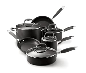 Anolon Advanced Nonstick Hard-Anodized Aluminum 10-Piece Cookware Set