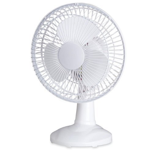 Lorell 49257 Desktop Fan,6 in. Tilt,2 Speed,6 Cord,7 in.x7-2/3 in.9-1/16 in.,White