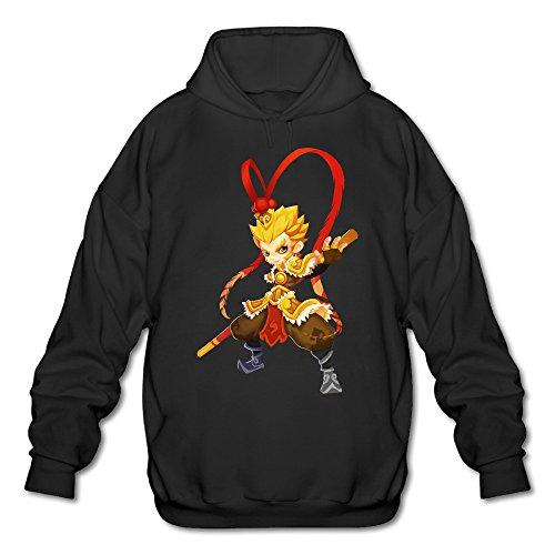 PHOEB Mens Sportswear Drawstring Hoodie Sweatshirt,The Monkey King Black XX-Large
