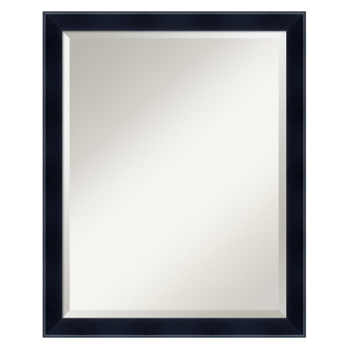 Amanti Art Madison Large Mirror In Satin Black front-679031