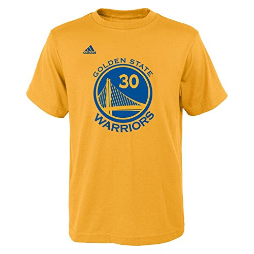 Stephen Curry Youth Golden State Warriors Gold Name and Number Jersey T-shirt Medium 10-12 (Nba Clothing compare prices)