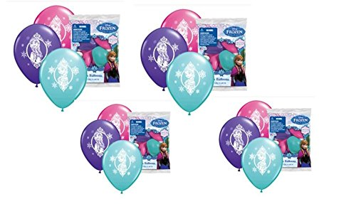 "Disney Frozen 9"" Printed Balloons 4 pack of 6pcs (total of 24 balloons) - 1"