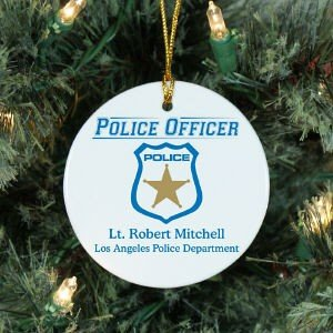 Personalized Police Officer Ornament