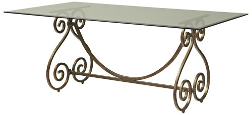 Cheap Iron Scroll Glass Top Dining Table (B001E9ZTH0)
