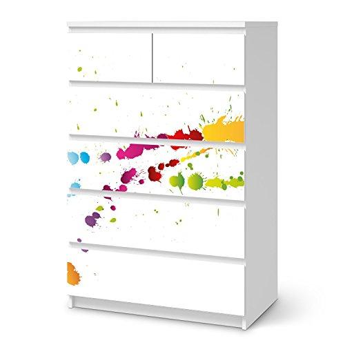 Malm Kommode Dekorieren : KlebeFolie für IKEA Malm 6 Schubladen (hoch)  Möbel dekorieren