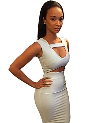 Allegrace-Women-Sexy-White-Bodycon-Mid-Bandage-Party-Dress