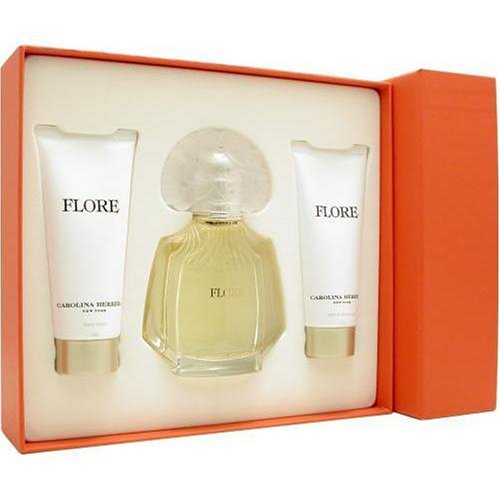Carolina Herrera Flore Coffret: Eau De Parfum Spray 100ml + Body Lotion 100ml + Shower Gel 100ml - 3pcs