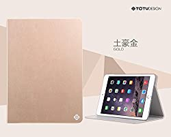 Totu Contrast Flip 360° Rotation for I-Pad Air2 (Gold)