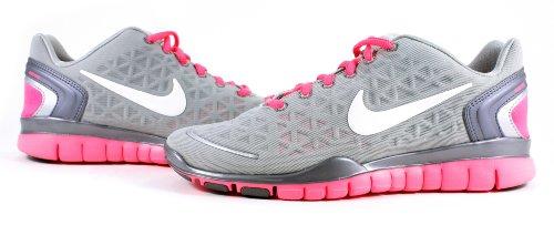 "58de17c04adb ""New"" Nike Women s Free TR Fit 2.0 – Metallic Silver   White-Pink Flash"