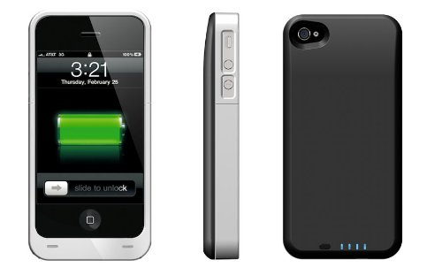 Boost Case Plus - Protective Case & 2200mAh Extended Battery for iPhone 4 4S (Fits all models iPhone 4S /4)