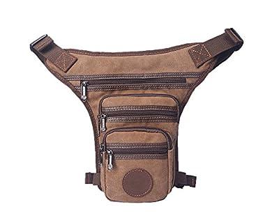Genda 2Archer multi-poches en Nylon / Toile sac de taille Leg Bag léger Randonnées Ville Banane
