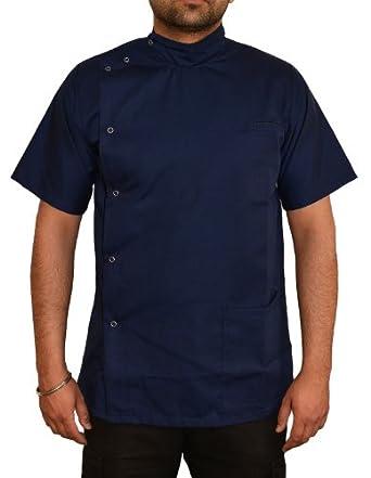 Mens asymmetric tunic with mandarin collar uniform by for Spa uniform amazon