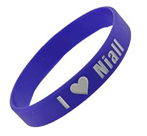 Purple One Direction Wristband I Love Niall Bracelet 05 Wide 17 from Hinky Imports
