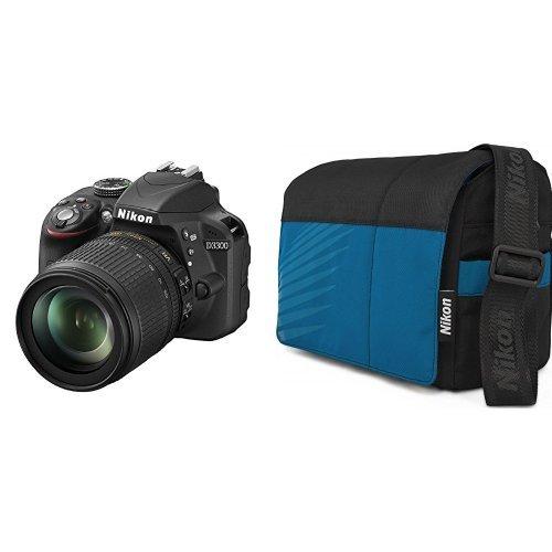 Nikon-D3300-Kit-Fotocamera-Reflex-Digitale-242-Megapixel-LCD-3-Pollici-SD-8GB-200x-Premium-Lexar-Nero-Nital-card-4-anni-di-garanzia