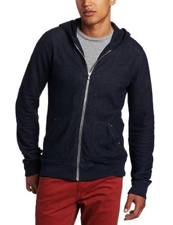 (大降) $119.00 美国7 For All Mankind Men's Zip Hoodie 男款纯棉藏青连帽衫