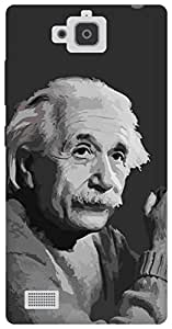The Racoon Lean Albert Einstein hard plastic printed back case for Huawei Honor 3C