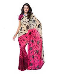 Indian Wear Georgette Multicoloured Printed Saree