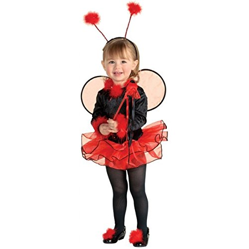 [GSG Lil' Ladybug Costume Baby Lady Bug Halloween Fancy Dress] (Toddler Lil Ninja Costumes)