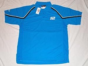 New! NASCAR Ryan Newman #12 Blue Alltel Racing Polo Shirt by NASCAR