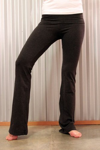 Hard Tail Fold Over Yoga Pants with Hard Tail Logo