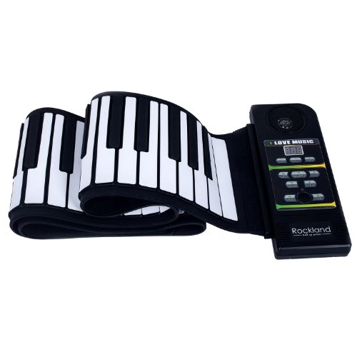 Rockland Rpn882 Professional Silicon Rubber Usb Midi Flexible Roll-Up Electronic Piano Keyboard With Louder Speaker