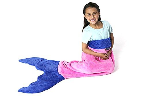 Blankie Tails Mermaid Tail Blanket (Ages 3-12) (Pink/Periwinkle)