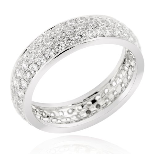 Sterling Silver Eternity Band with New Generation Amandaz CZ (Size 6)