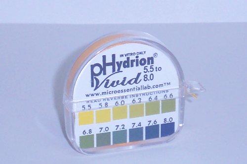 Imagen de PH prueba de la cinta dispensador de papeles Hydrion tiras hechas por saliva o Prueba de orina - El rango es de 0.2 Intervalos y 5,5 a 8,0 - Comprobar Órgano ambiente alcalino o ácido - Aprox. 100 pruebas!