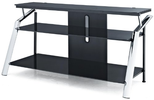 Altra Furniture Chrome and Glass TV Stand photo