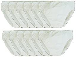 My Pool Pal 12 Count Disposable Swim Diaper, White, 12 Months