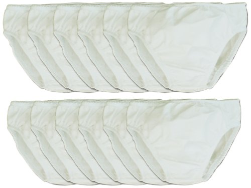 My Pool Pal 12 Count Disposable Swim Diaper, White, 24 Months