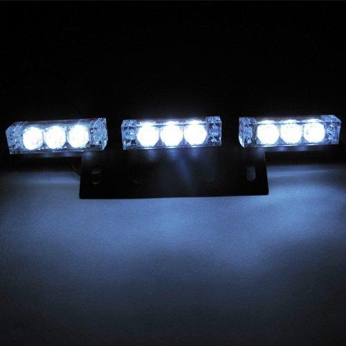 Lanlan White Car Truck Boat Emergency Van Flashing Modes 54-Led Strobe Light Lamp #73W