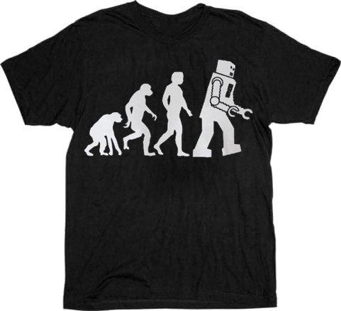 The Big Bang Theory Robot Evolution T-shirt Tee