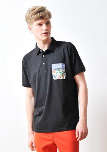 ( グラニフ ) graniph プランツ ポケット ポロシャツ / バーディー ジャングル ( ブラック ) M
