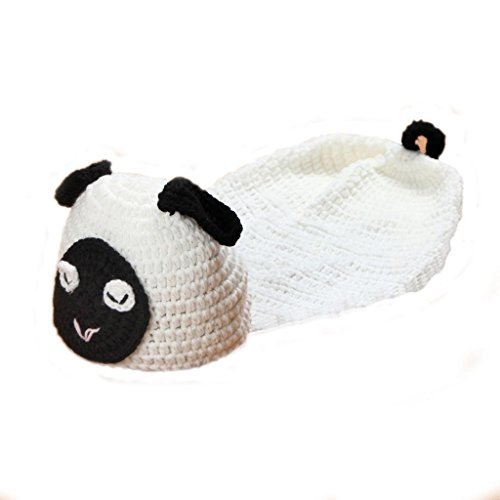 Elee Newborn Baby Handmade Sheep Lamb Crochet Photography Props Costume Set