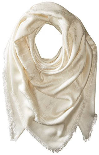 Marc-Jacobs-Womens-Monogram-Solid-Monogram-Logo-Shawl-In-Ivory