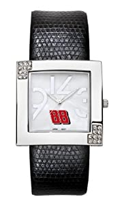 Leather Strap Chrome Glamour Dale Earnhardt, Jr NASCAR Watch by Nascar Officially Licensed