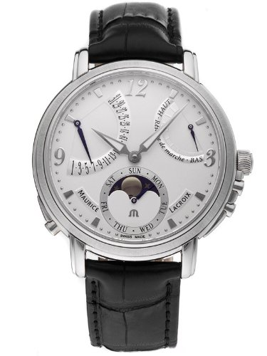 Maurice Lacroix Mens MasterPiece Retrograde Watch MP7078-SS001-120