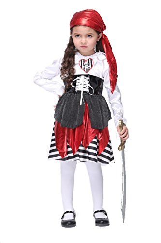 NonEcho Pirate Costume for Girls Little Pirate Girl