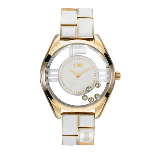 Storm Ladies Pizaz Gold White Watch 47042/GD/W