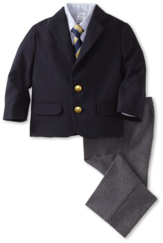 Image of NAUTICA N337139 Dress Up Boys 2-7 Solid Poplin Duo Set