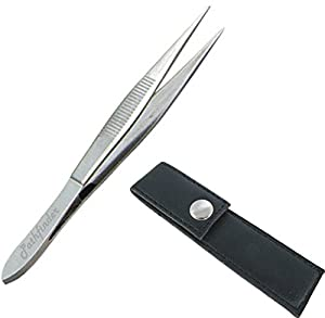 Pathfinder Technologies ® Professional Pointed sharp tip stainless steel Tweezers. Comes with a life time guarantee