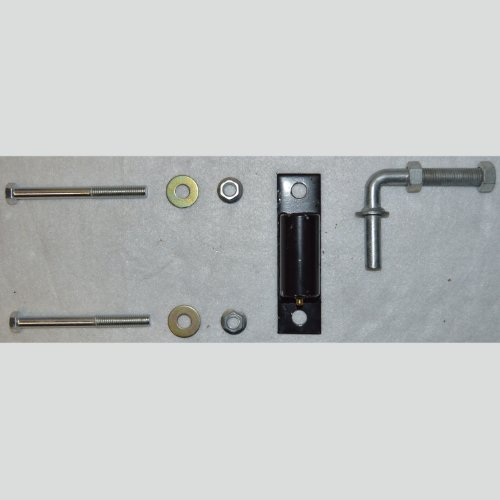 Aleko 3 4 inches heavy duty hinge j bolt for driveway for Driveway gate hardware heavy duty