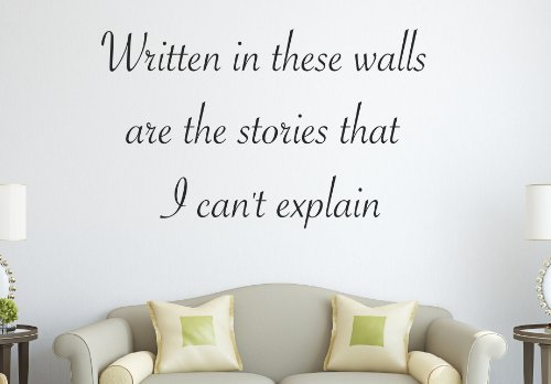 One Direction 1D the Story of My Life Lyrics Written in These Walls... Wall Decal Quote Sticker Art Decor Vinyl (One Direction Quotes compare prices)