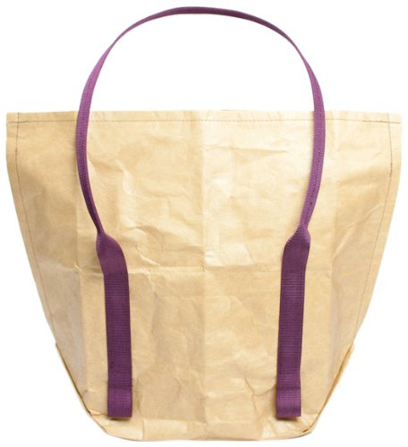 Mimot Reusable Lunch Bag, Brown with Burgundy Straps - 1