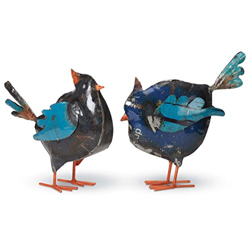 Foreside Recycled Metal Birds (Set of 2)
