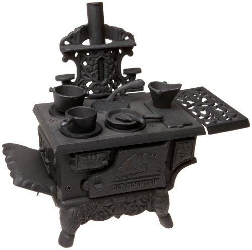 Black Mini Wood Cook Stove Set - 12 Inches Long With Accessories (Miniature Wood Burning Stove compare prices)