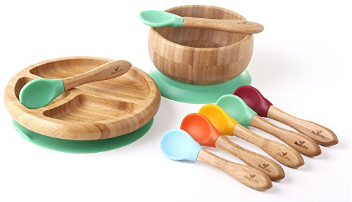 Rainbow Gift Set Green. Baby Shower, Baby Registry, Home Set & more. Baby Girl, Baby Boy, Unisex. Baby Bowl Set + Baby Plate Set + Assorted Baby Spoons Set. FDA Approved BPA Free