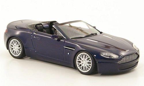 Aston-Martin-V8-Vantage-Roadster-met-dkl-blau-Sondermodell-MCW-2008-Modellauto-Fertigmodell-MinichampsMCW-143