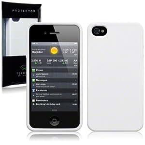 iPhone 4S / iPhone 4 TPU Gel Skin Case / Cover - Solid White